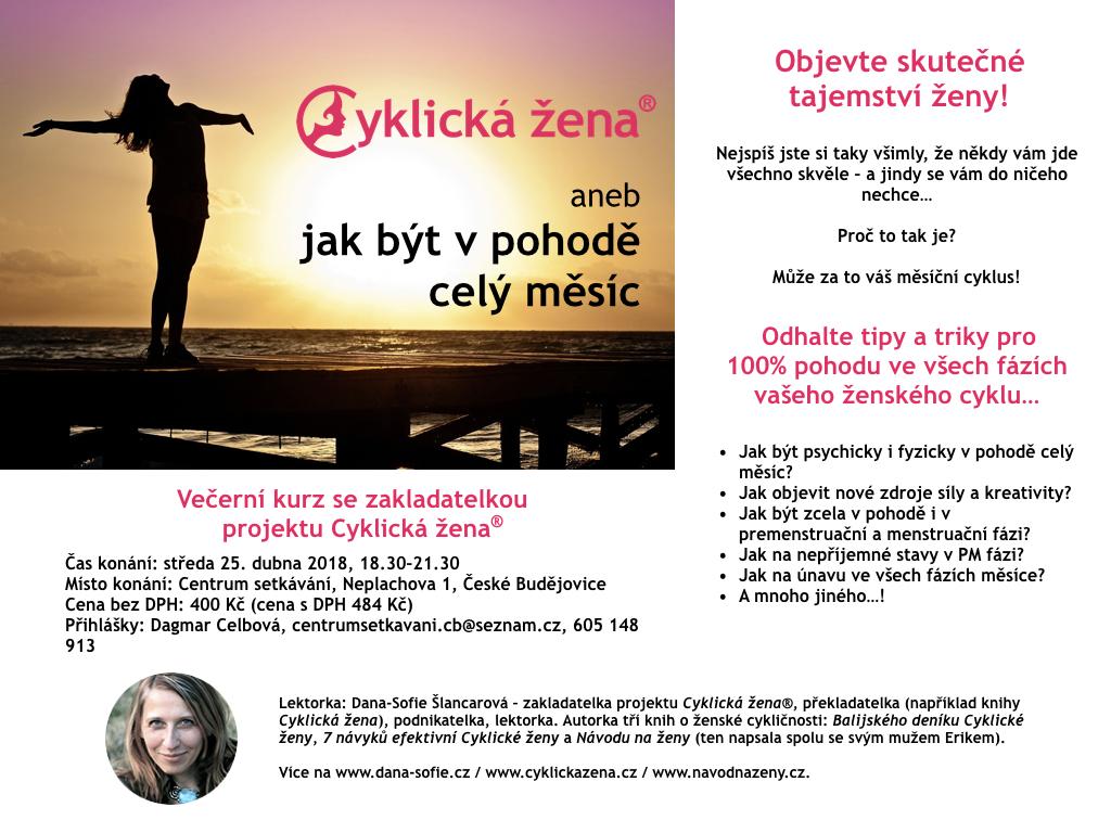 Jak být v pohodě celý měsíc (České Budějovice)